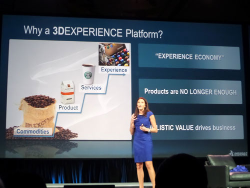 Monica Menghini en el 3DExperience Customer Forum 2013