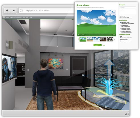 3DVia app para marketing 3D en web y moviles