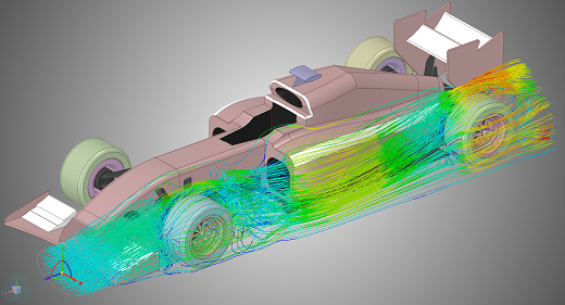 ANSYS® Discovery Live Fluidos - imagen cortesia de ANSYS