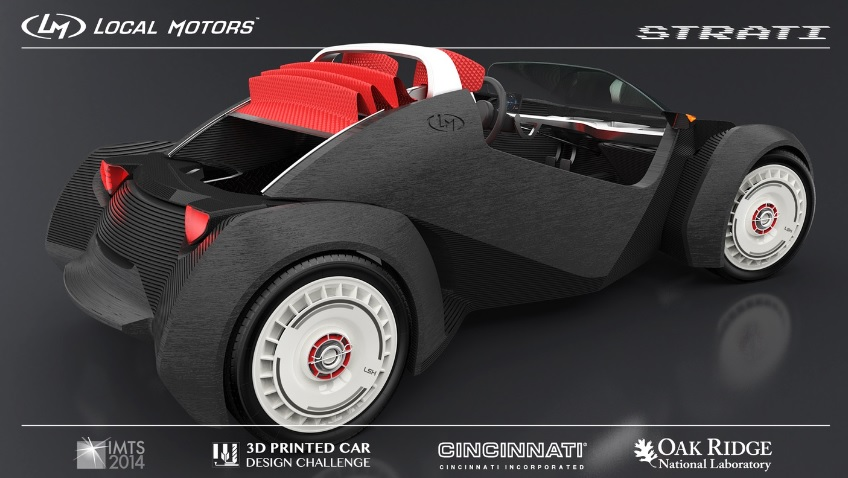 Autodesk Local Motors Strati auto impreso 3D