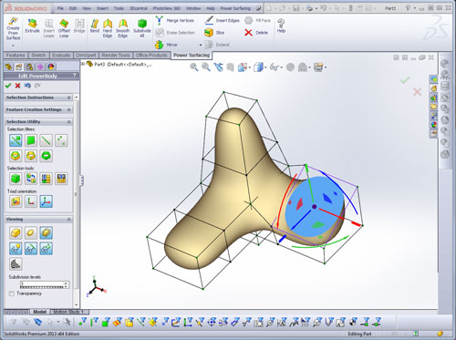 Power surfacing para SolidWorks