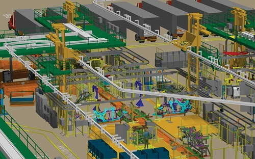 FactoryCAD de Tecnomatix Manufacturing Planning and Management