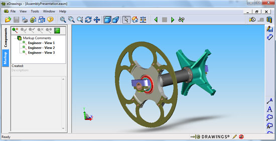 eDrawings visualizacion de disenos SolidWorks