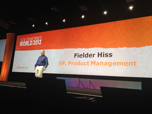 Fielder Hiss en el SolidWorks World 2012